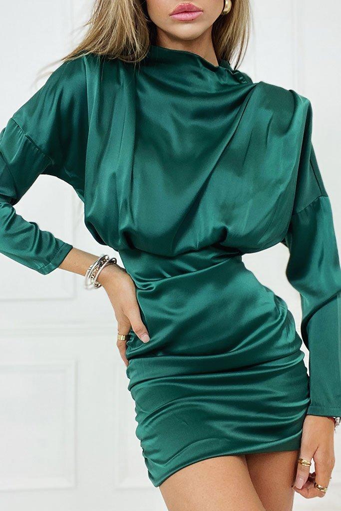 ISawItFirst Satin mini dress